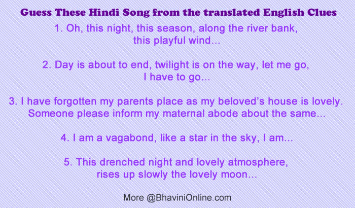 Hindi songs on parents