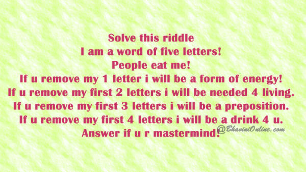Whatsapp Guess the Five Letter Word: People Eat Me