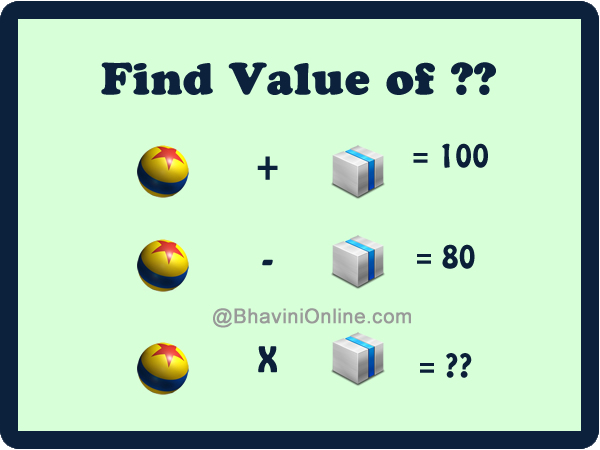 fun math riddles find the value of in the picture. Black Bedroom Furniture Sets. Home Design Ideas