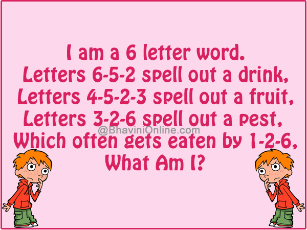 Word riddle games i am a 6 letter word bhavinionline expocarfo Images