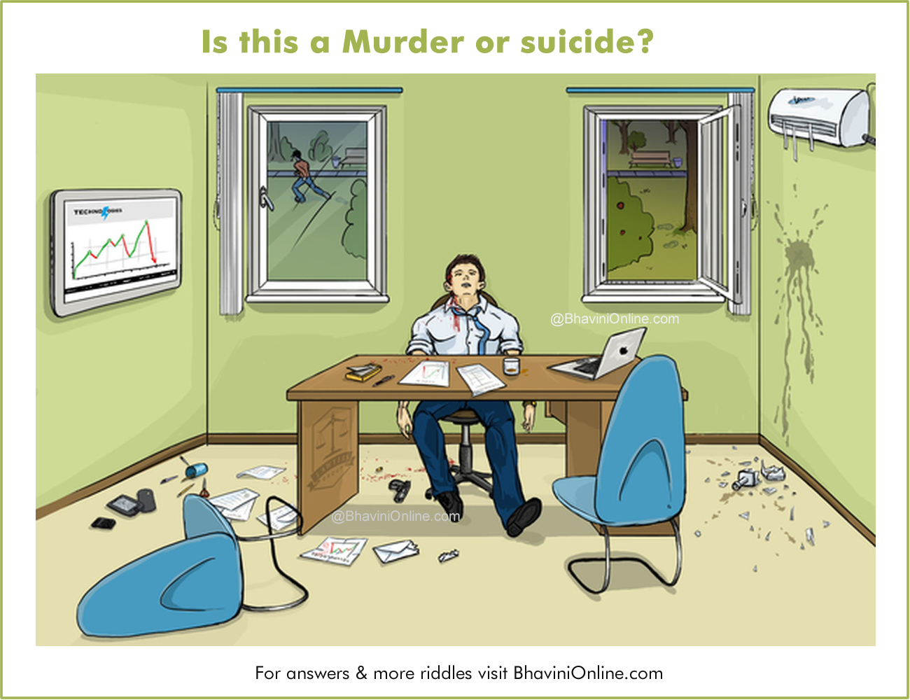Picture Detective Riddle Is This A Murder Or A Suicide