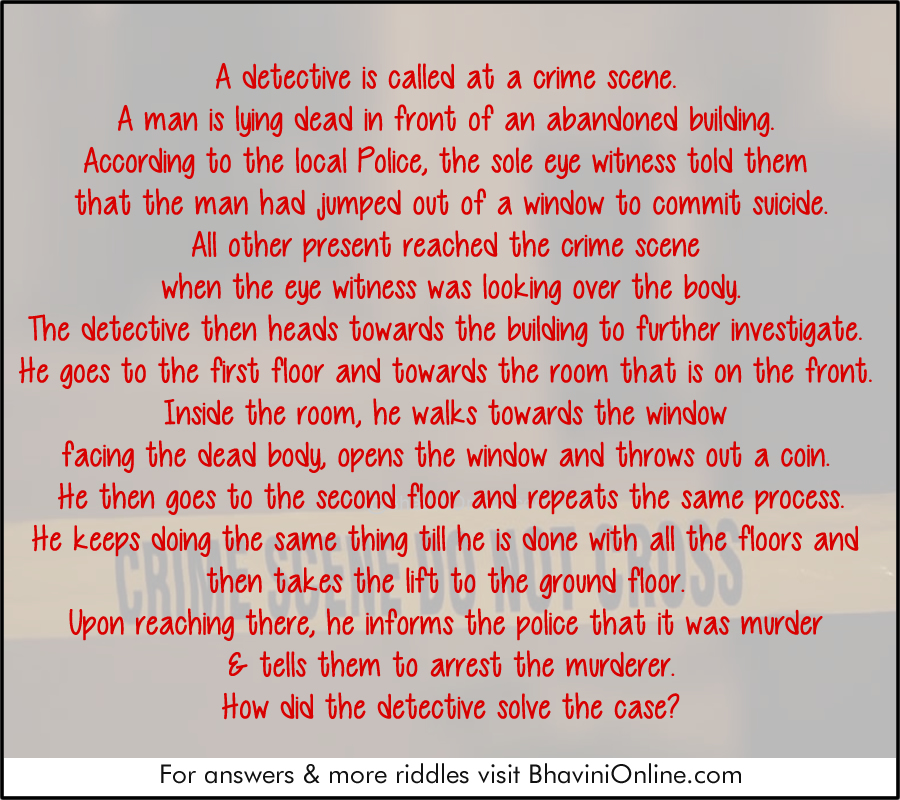 Murder Mystery Riddle: Was it a Suicide or Murder
