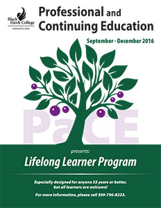 Fall Lifelong Learners schedule