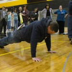 Action Auction - Who can do the most pushups for bonus points? Andy Olson