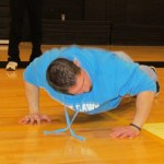 Action Auction - Who can do the most pushups for bonus points? Andrew Viscariello