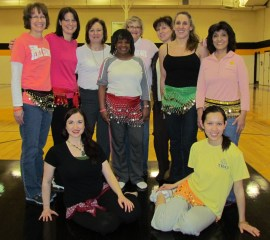 These ladies tried belly dancing in the afternoon.