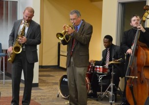 Library ribbon cut - jazz band (web)