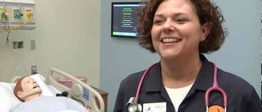 Nursing student smiling