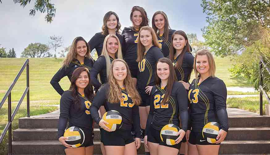 2017 Black Hawk College Volleyball Team
