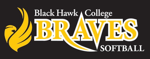Black Hawk College softball logo