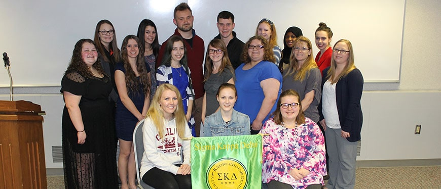 Sigma Kappa Delta Induction Ceremony Group Photo