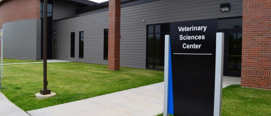 Veterinary Sciences Center building entrance
