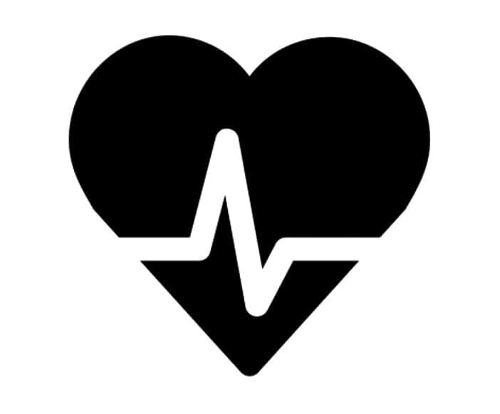 Black and White illustration of heartbeat