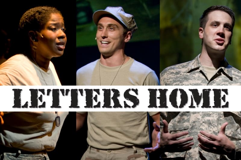 Letters Home military drama - black female & 2 white male actors in military clothes