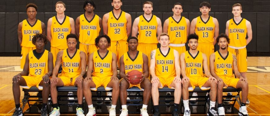 Black Hawk College men's basketball team for 2019-2020