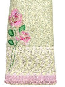 L Parrot Green Thai Heavy Material with Heavy Rose Work