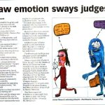 'Raw emotion sways judges'