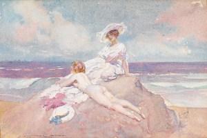 Norman Lindsay Sunbathing