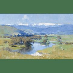 Lot 27 - Arthur Streeton, The Murray and the Mountain (1930), est. $150,000-200,000. Streeton is the Australian Landscape