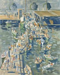 Lot 93, Herbert Badham, Port Said, 1954, est. $6,000-8,000. Watch for his retrospective at MAGAM