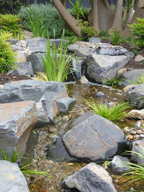 Camberwell Japanese garden stream
