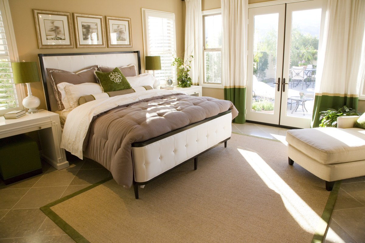 Comfortable guest bedroom with cozy style