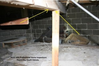 Posts and Beams that are Warped - Get Fast Inspections By Home Inspectors In Rapid City, SD - Serving Black Hills Area