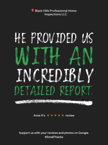 Reviews - Rapid City Home Inspection Tips, Rapid City Home Inspections by Black Hills Professional Home Inspections, LLC