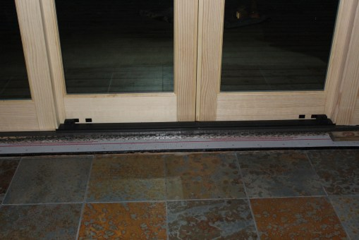 Slate used in front of doors