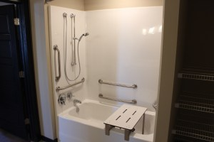 Shower accessibility and access