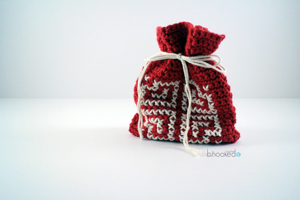 Crochet Valentine Goody Bag B Hooked Crochet Knitting Podcast