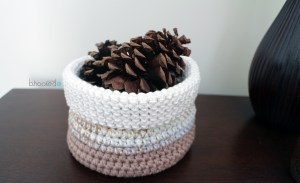 Cotton Crochet Basket