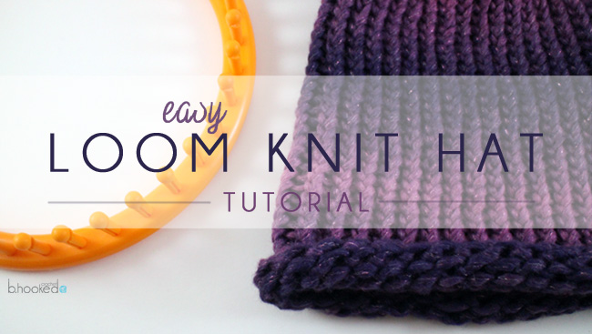 Loom Kit Loom Knit Hat Tutorial Web