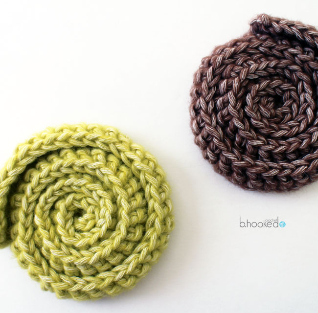 Simple Swirl Embellishment And Motif Bhooked Crochet Knitting