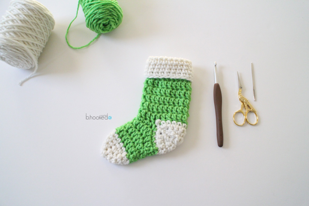 Mini Crochet Stockings Free Pattern Pictorial Bhooked Crochet