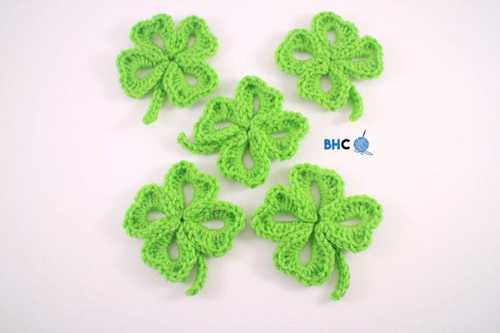 Crochet Four Leaf Clover Free Pattern Video Tutorial