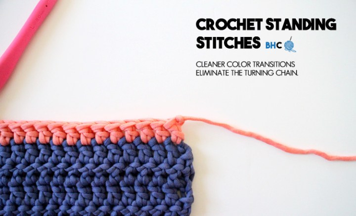 crochet standing stitches