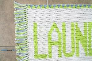 """""""Laundry Mat"""" Tapestry Crochet Rug"""