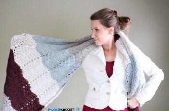 chevron crochet super scarf