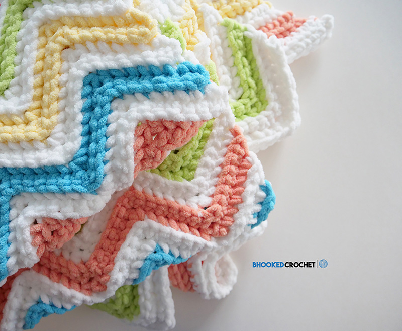 The Perfect Chevron Crochet Blanket Pattern By Yarnspirations