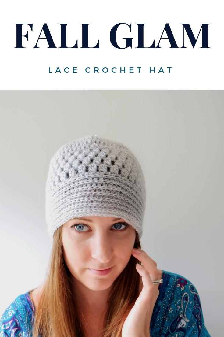 486162f3702 Fall Glam Lace Crochet Hat - B.Hooked Crochet