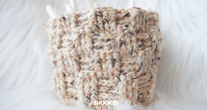 Crochet & Knit Basket | Free Pattern and Tutorial
