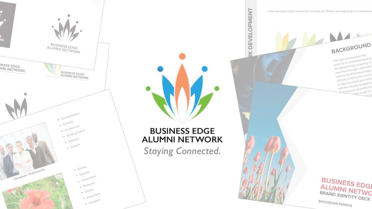 Business Edge Alumni Network Brand Identity Collage