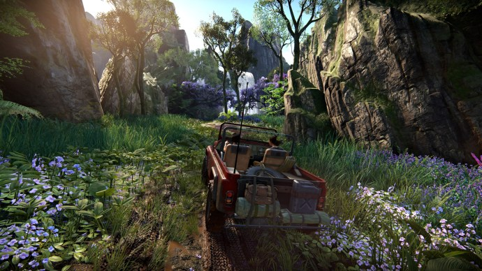 Uncharted - Driving the Jeep on muddy slopes