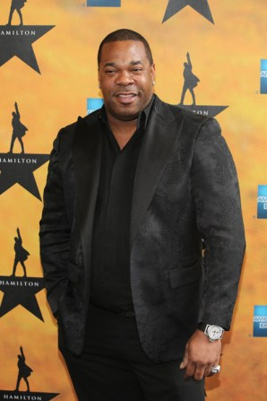 Busta Rhymes at the Hamilton Broadway Premiere in August 2015 (From Zimbio)