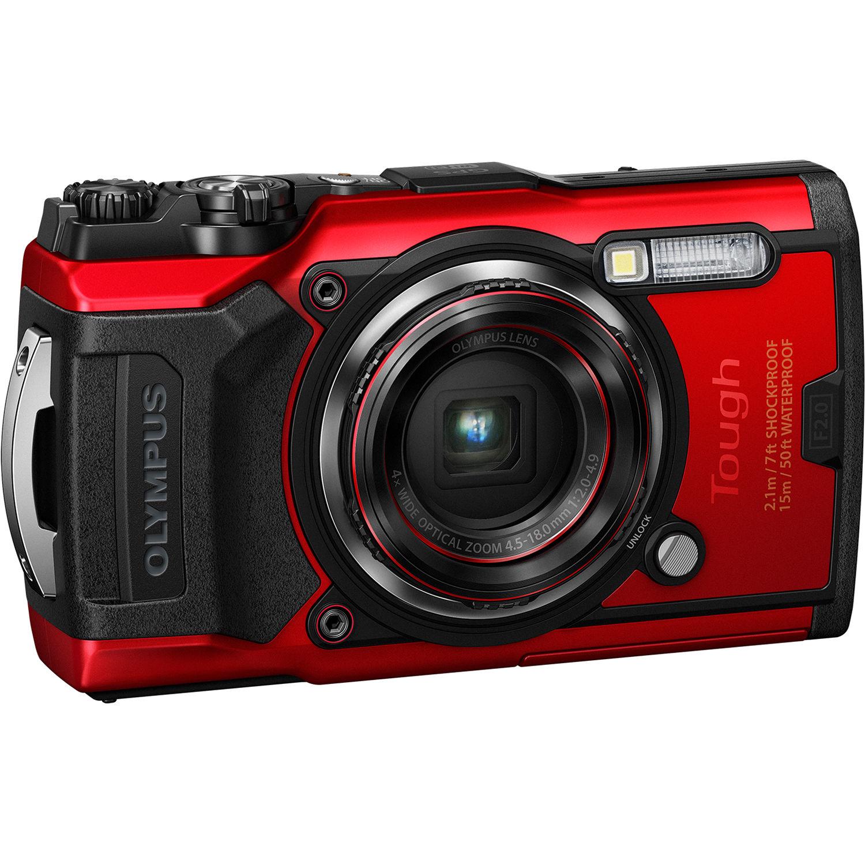 Olympus Tough TG-6 Digital Camera (Red) V104210RU000 B&H Photo