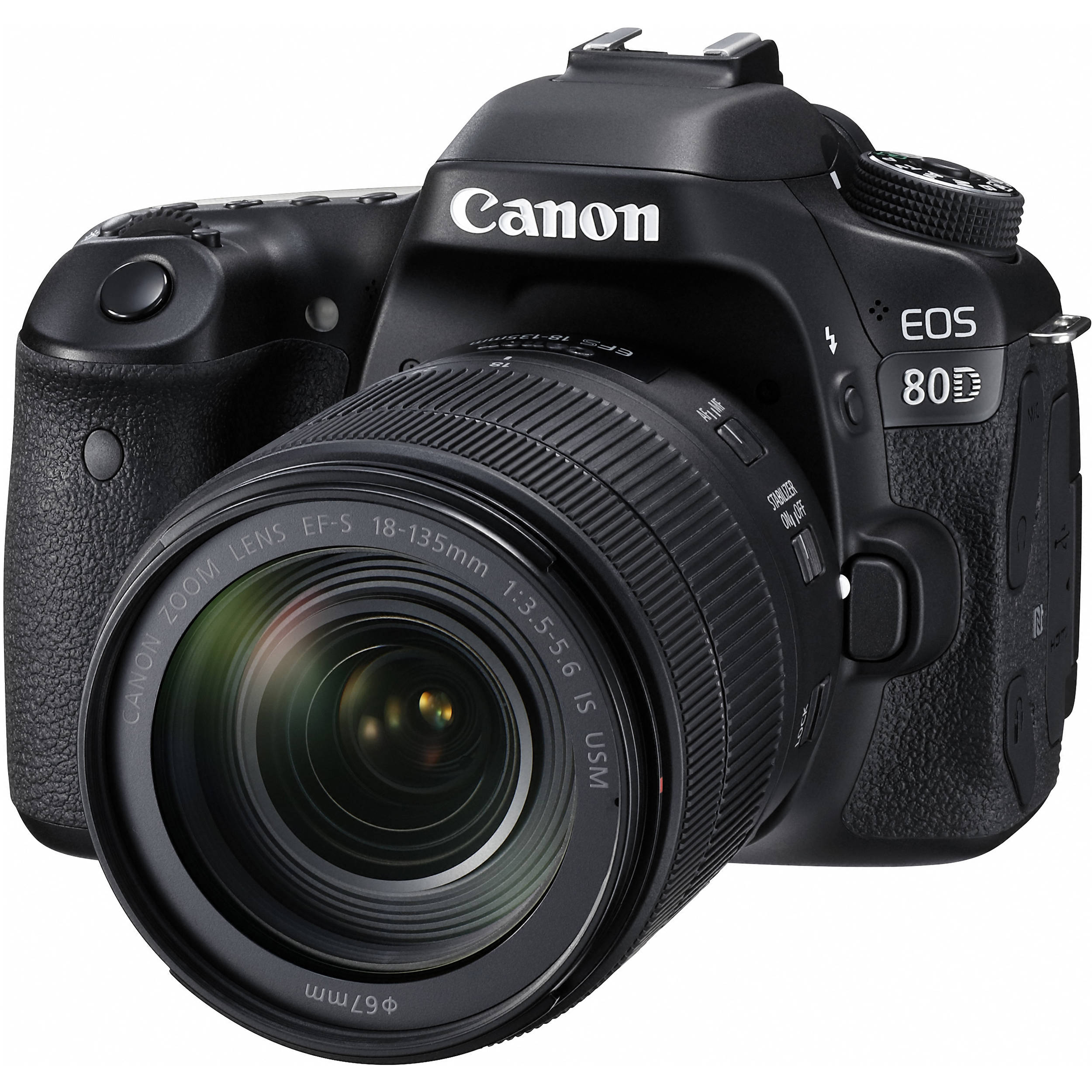 Canon Eos 80D Dslr Camera With 18-135Mm Lens 1263C006 B&Amp;H Photo