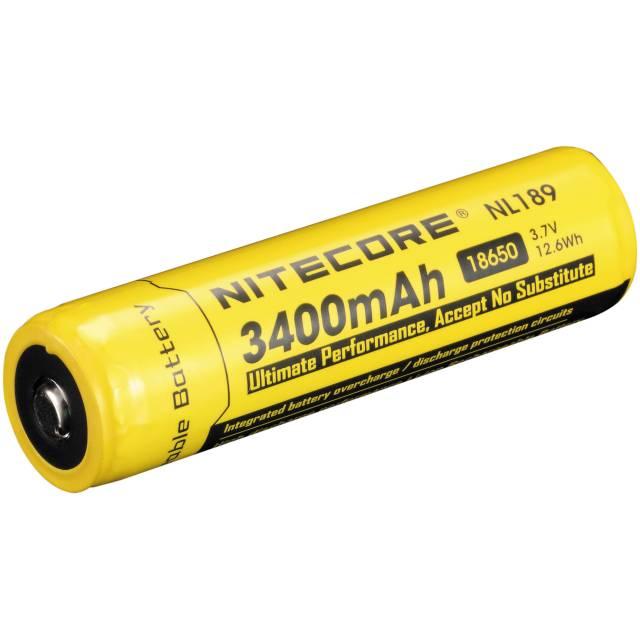NITECORE 18650 Li-Ion Rechargeable Battery (3.7V, 3400mAh