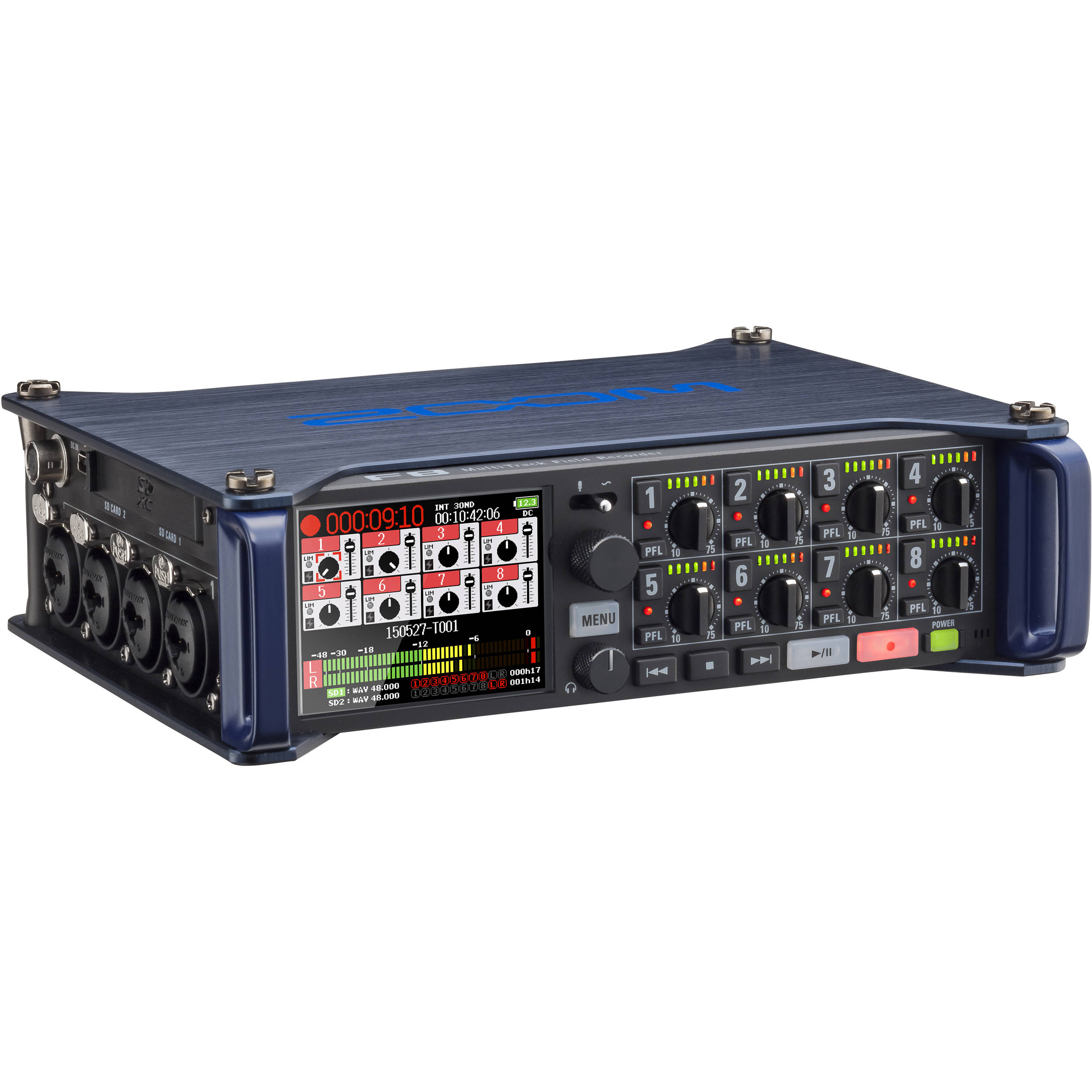 Zoom F8 Multi Track Field Recorder Zf8 B Amp H Photo Video