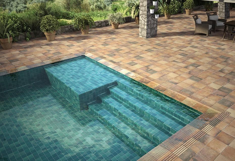 perimeter ceramic tile